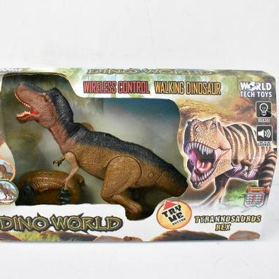 RC Dinosaur, Wireless Control Walking Dinosaur with Lights & Sounds - New