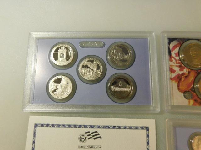 US Mint 2010 Proof Set State Quarters, Presidents, Coin Set in Box with COA