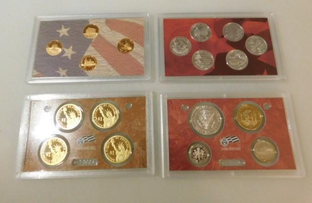 US Mint 2009 Proof Silver Set Presidents, State Quarters, Pennies, Coin Set in Box with COA