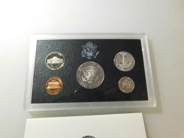 US Mint 1998 Silver Proof Coin Set with COA