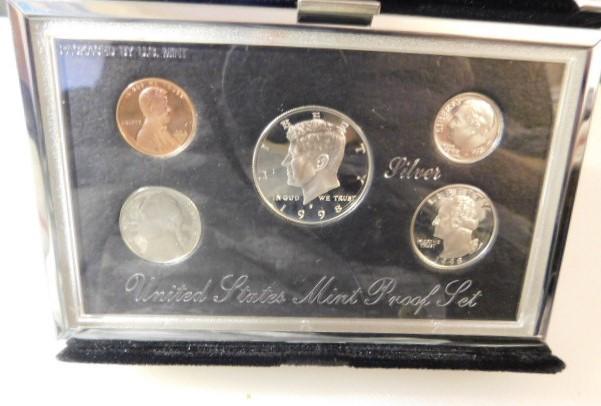 US Mint Premier 1998 Silver Proof Set with COA