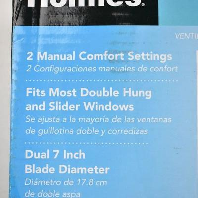 Holmes Twin Window Fan, Manually Reversible - New