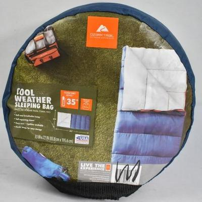 Ozark Trail Cold Weather Sleeping Bag, Navy Blue - New