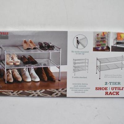 2-Tier Shoe/Utility Rack - New