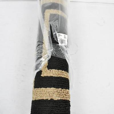Black & Brown Frame Border Runner Rug 21