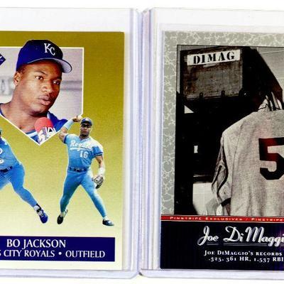 BO JACKSON AND JOE DIMAGGIO BASEBALL CARDS SET - Fleer Ultra/Upper Deck