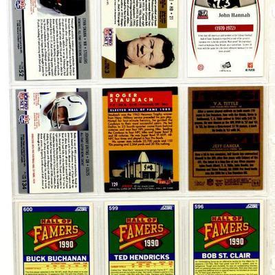JIM THORPE John Hannah LYNN SWANN BUCK BUCHANAN FOOTBALL CARDS SET OF 9
