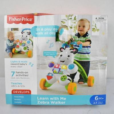 Fisher Price Learn with Me Zebra Walker - Slight Damage Inside Box Damage