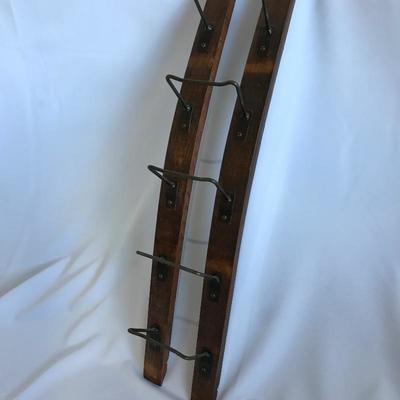 Lot2 - Wine Rack & Towel Holder - Arts & Crafts Style