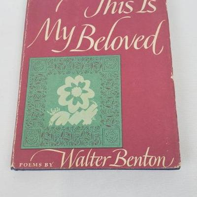 Encyclopedia, hollowed out for This is My Beloved by Walter Benton, 1952