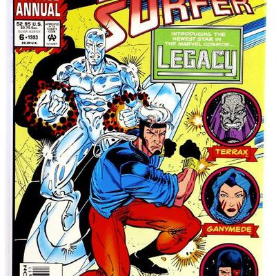 SILVER SURFER ANNUAL # 6 - 1st Appearnce of Genis Vell LEGACY then Captain Marvel 1993 Marvel NM