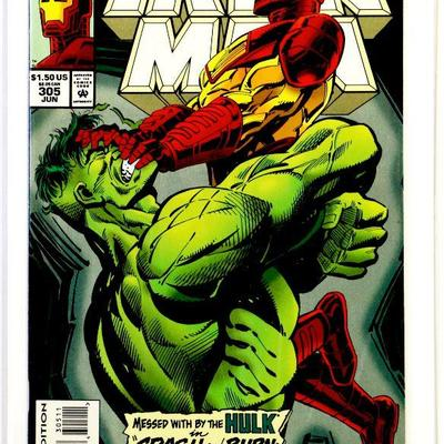 IRON MAN #305 First Appearance HULK BUSTER ARMOR Key Issue 1994 Marvel Comics NM