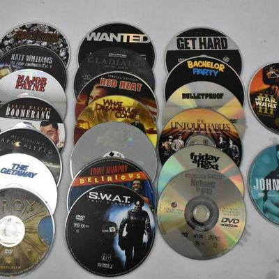 22 Movies on DVD - No Cases
