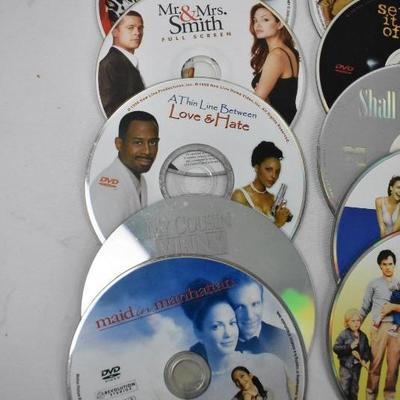 15 Movies on DVD - No Cases