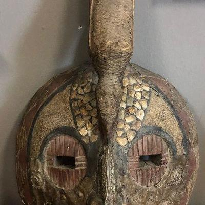 Lot #2Carved and Embellished African Mask