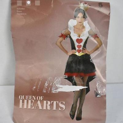 Queen of Hearts Costume, Dress Only, Women's Medium - New
