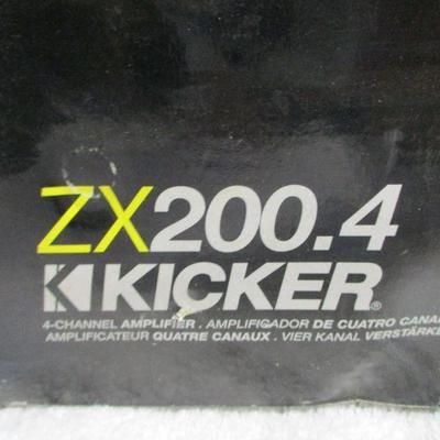 Lot 5 - ZX200.5 Kicker - 4 Channel Amplifier