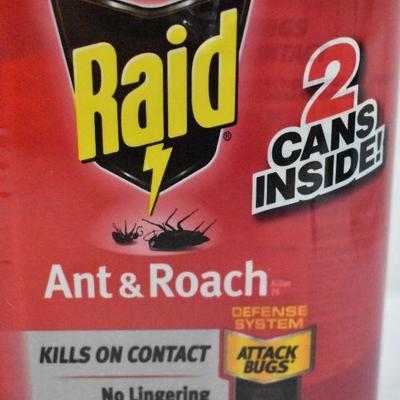 2 Pack Raid Ant & Roach 17.5oz Each - New