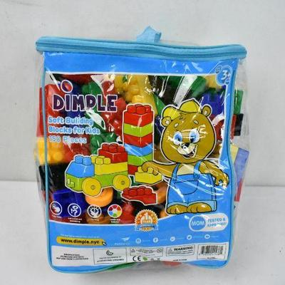 Dimple Soft Building Blocks for Kids, 150 Pieces For Ages 3+ - New