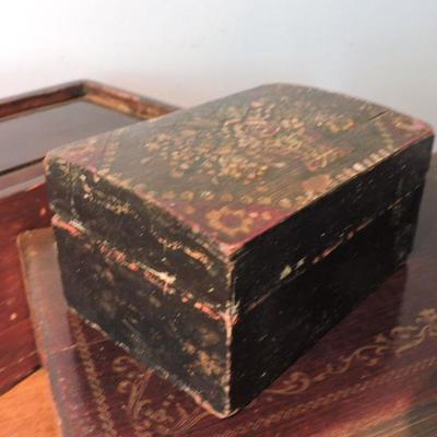 Collection of Vintage Wooden Boxes