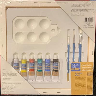 New Artist's Loft Canvas Painting Kit 12 Piece (Supplies, Tips & Techniques Included)