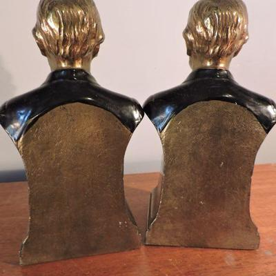 Abraham Lincoln Brass Bookends