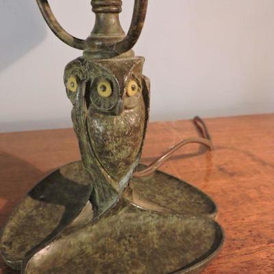 Amazing Bradley & Hubbard Owl Lamp