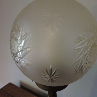 Beautiful Brass with Glass Globe Lamp