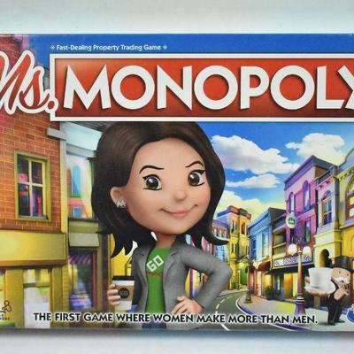 Hasbro Ms. Monopoly Board Game - New, Sealed