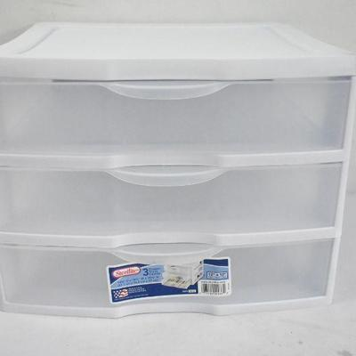 Sterilite 3 Drawers Desktop Organization to Hold 12
