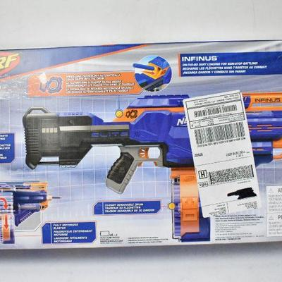 Nerf N-Strike Elite Infinus with 28 Darts - Does NOT Work, Parts Only