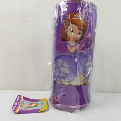 Disney's Sofia the First, Cylinder Table Lamp - New, Dented/Creased