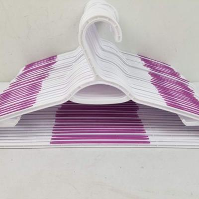 30 Non-Slip Clothes Hangers, White/Pink - New, No Packaging