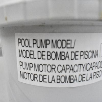 Pool Pump Model RX600 - Turns On, Untested with Water