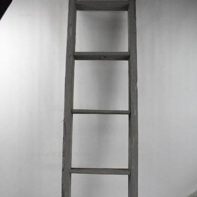 Rustic Gray Decorative Ladder, 5 Feet Tall - Split at Top