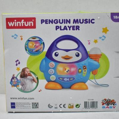 Penguin Music Player with Microphone - New