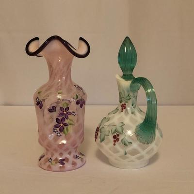 Lot 2 - Fenton Hand Painted Glass