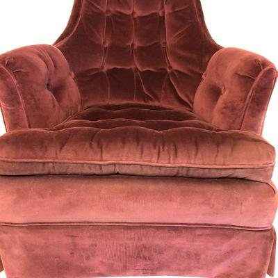 Lot 3 - Purple Fabric Covered Chair