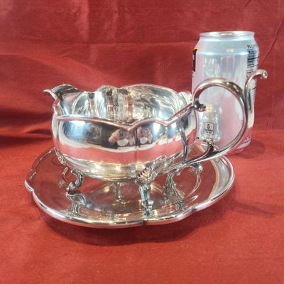 Silver Plate Gravy with Underplate