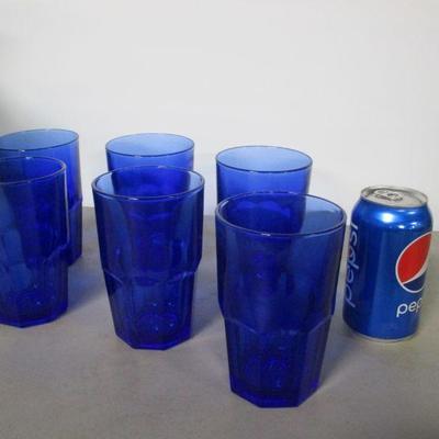 Lot 2 - 6 Cobalt Blue Glasses
