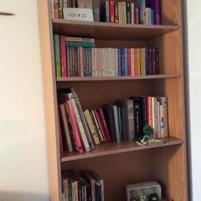 Lot # 21. Bookcase with books