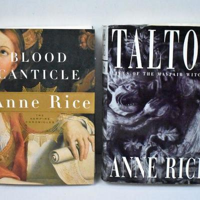2 Hardcover Books by Anne Rice: Blood Canticle & Taltos