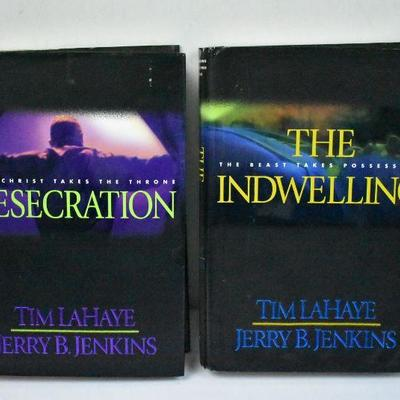 2 Hardcover Books by LaHaye/Jenkins: Desecration & The Indwelling