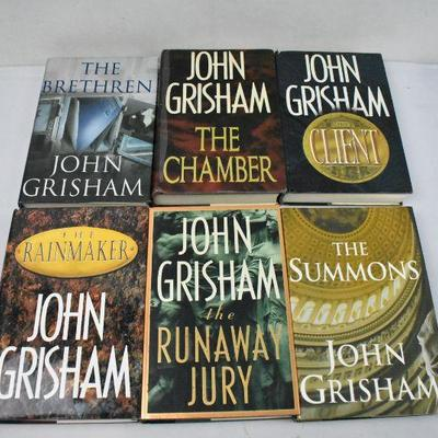 6 Hardcover Books by John Grisham: The Brethren -to- The Summons