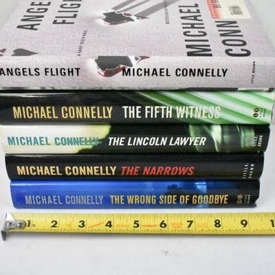 5 Hardcover Books by Michael Connelly: Angels Flight -to- The Wrong Side of...