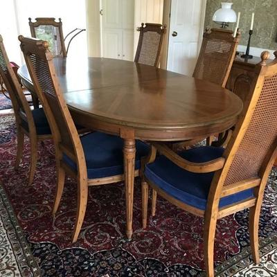Heritage dining table and 6 chairs NOW $248.75 100 X 44 X 29