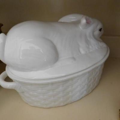 Large Portugese Ceramic Rabbit on a Nest