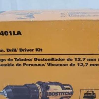BOSTITCH 18-Volt Lithium-Ion Cordless Drill, BTC401LA, Missing Storage Bag - New