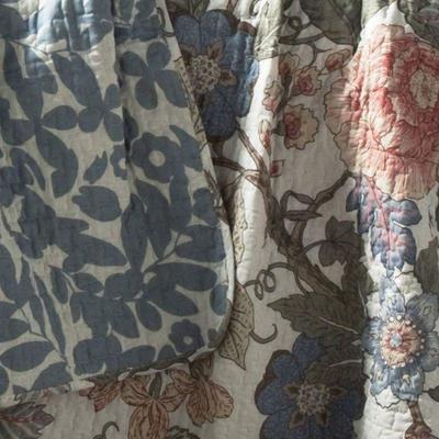 King 3PC Sydney Quilt Set, Green/Blue, Lush Decor - New