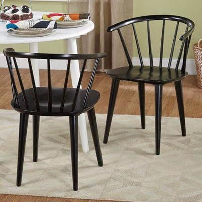 Florence Dining Chairs, Set of 2, Black - New